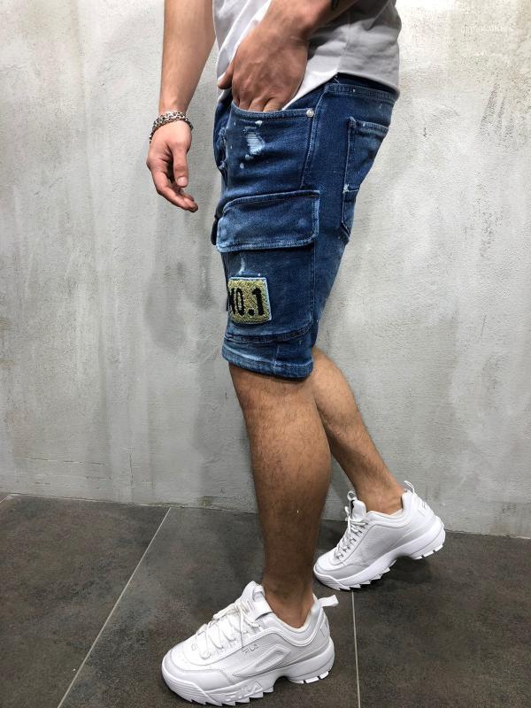 Mode Homme Denim Jeans Slim Pantalon droit Designer Tendance Hommes Pantalons d'été Holes Hommes Denim Shorts