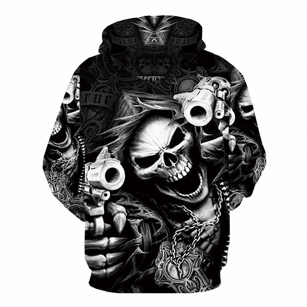 SKULL Skeleton 3D Print Mens//women Sweatshirt Hoodies casual Tops Pullover S-5XL