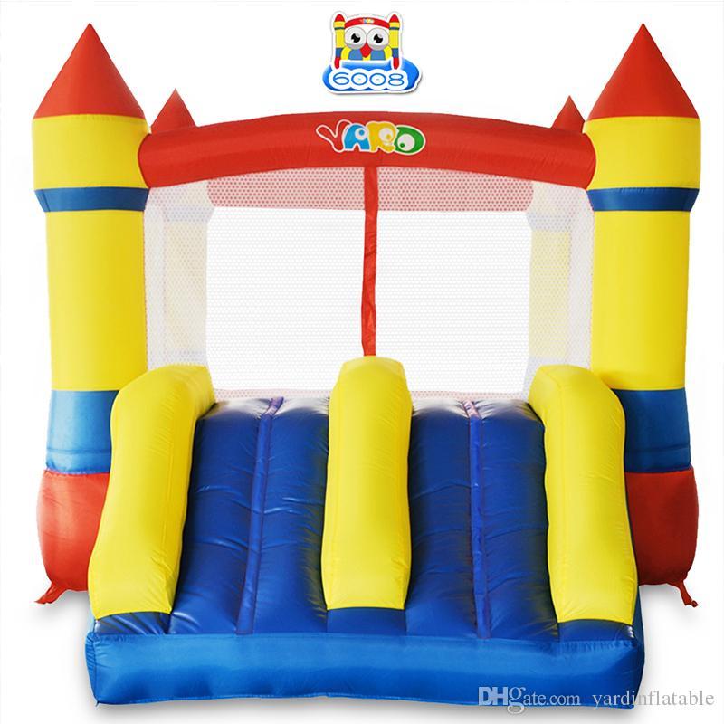 Casa de quintal usa nylon mini bouncy castelo saltar casa inflável jumper moonwalk trampolim brinquedos com ventilador