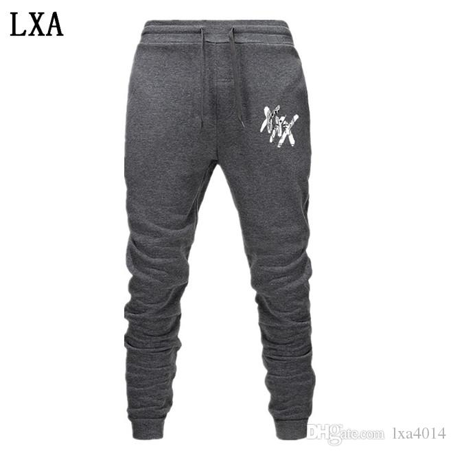 New Rapper Xxxtentacion Pantalons Été Automne Pantalons de loisirs Pantalon droit Harem Cartoon Hommes Jogger EL-3