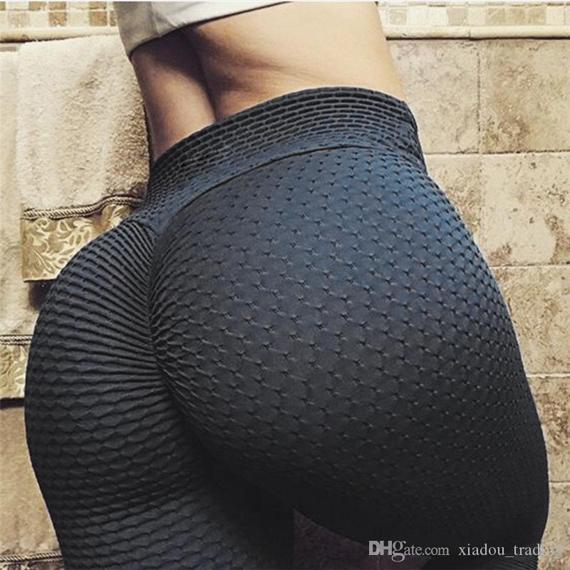 for sale big selection top-rated 2019 Womens High Waist Textured Workout Leggings Booty Scrunch Yoga Pants  Slimming Ruched Tights Breathable Slim Pants From Xiadou_trading, $9.76 |  ...