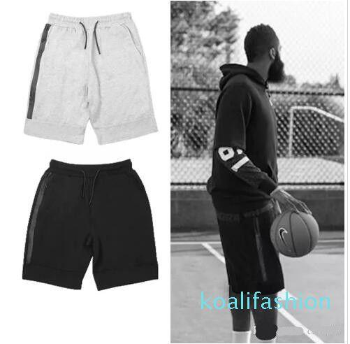 Yeni moda Basketbol şort Polar spor şort fermuar cep spor pantolon rahat pantolon gri siyah s-XL ky08