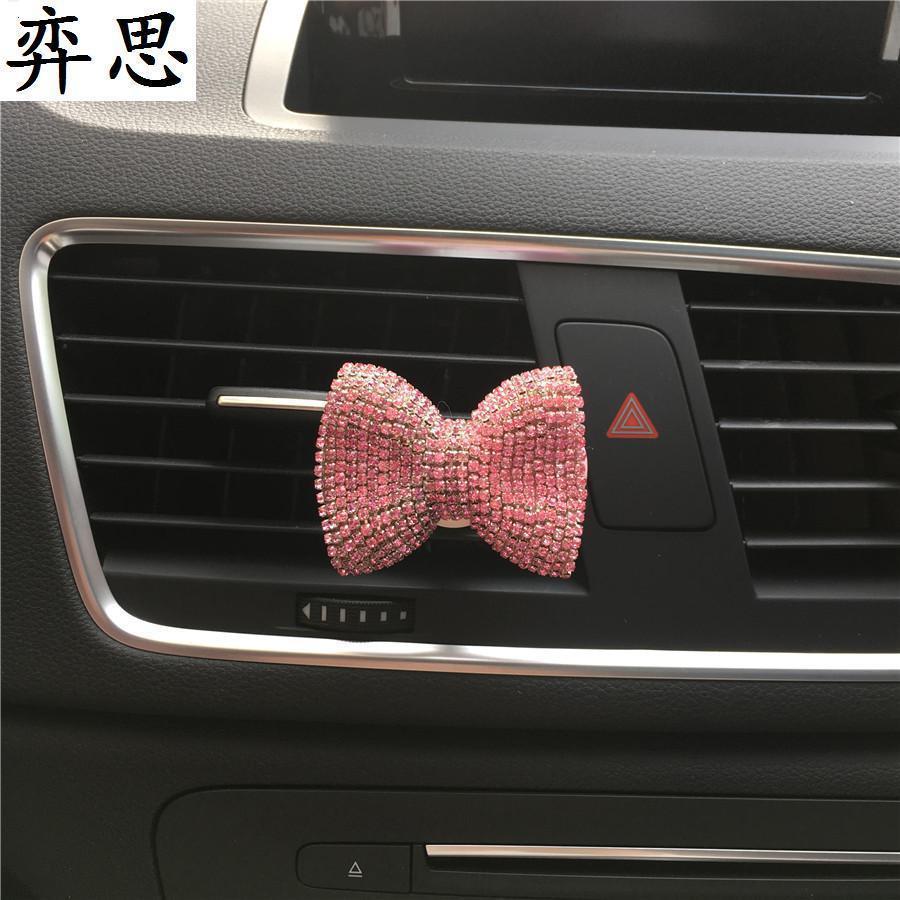 Mesdames nœud papillon coloré clip voiture parfum exquis ornements voiture styling parfum conditionneur d'air en forme d'arc assainisseur d'air de voiture