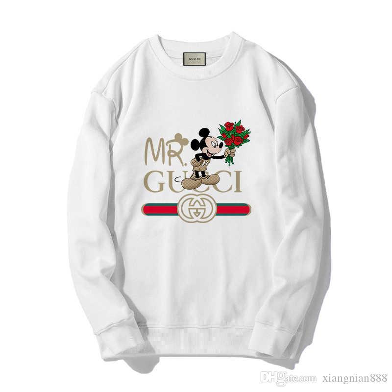 GUCCI Nouveau Hoodie Hip Hop Lettre Imprimer Sweat Hommes Femmes Pulls Streetwear Designe Sweats à capuche blanc gris rose # 84765