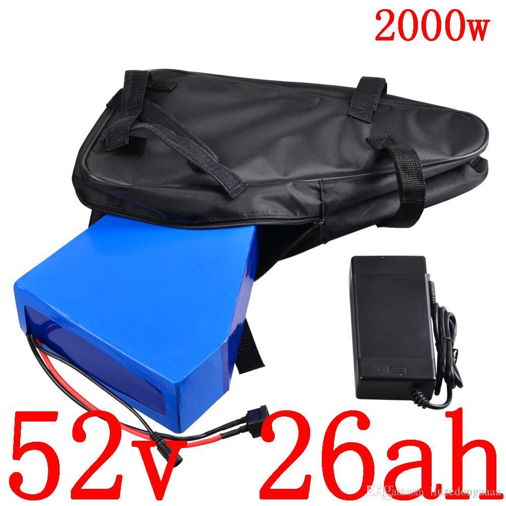 51.8V 1000W 1500W 2000W Elektroroller Batterie 52V 25AH ebike Lithium-Batterie 52V 25AH elektrische Fahrradbatterie mit 5A Ladegerät