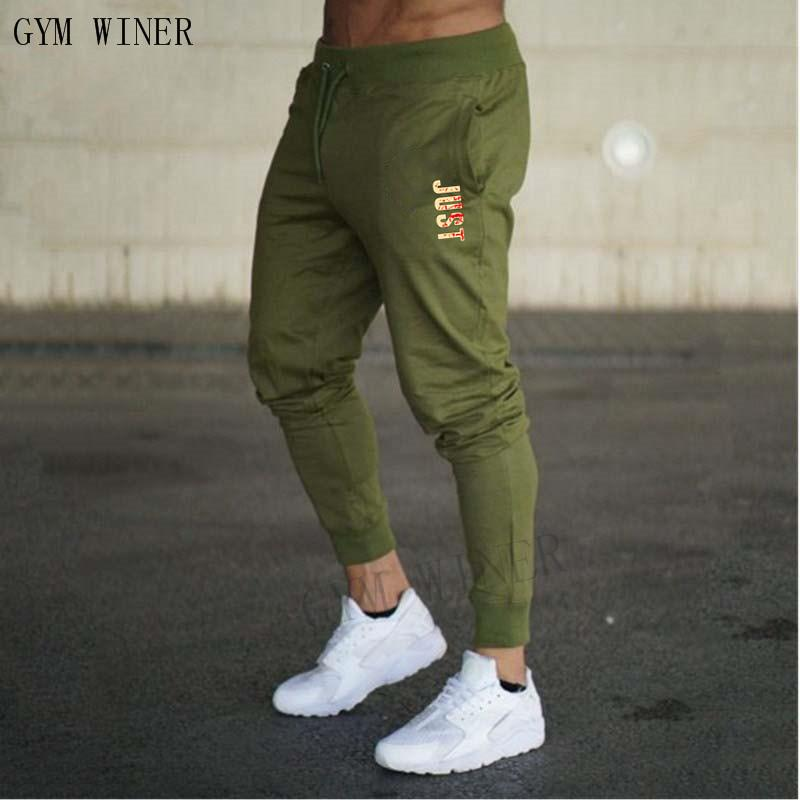 2019 baumwolle männer volle sportbekleidung hosen casual elastische baumwolle mens fitness workout hosen dünne jogginghose hosen jogger