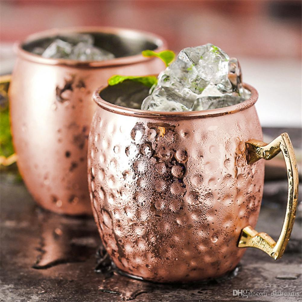 530 mi Paslanmaz Çelik Dövme Moskova Mule Mug Su Kahve Süt Çay Kupası Drinkware Ev Bar Malzemeleri