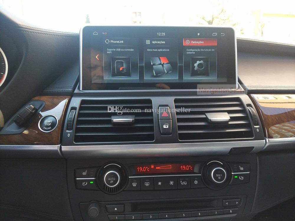 الروبوت 9.0 سيارة مشغل دي في دي لسيارات BMW X5 E70 E71 X6 نظام CIC 2011-2014 CAR STEREO الإنتقال الوسائط المتعددة IPS SCREEN