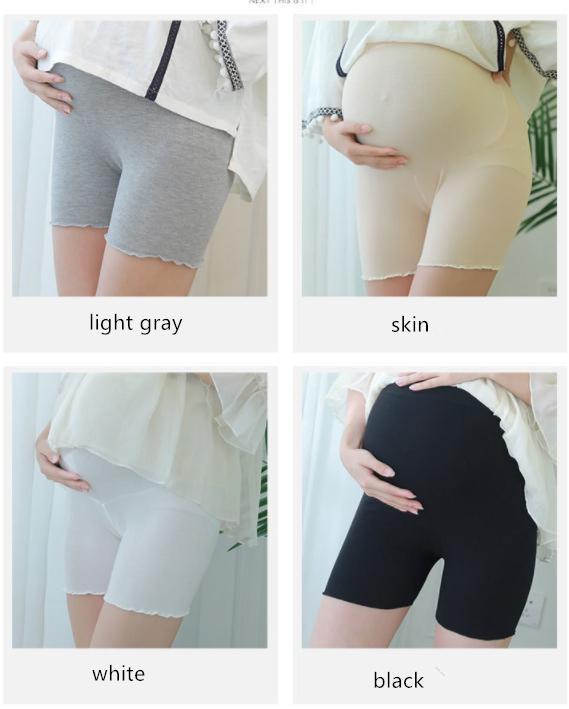 New Maternity Wear Thread Cotton Three Quarter Safety Pants Anti Glitter Maternity Wear Summer Thin Paunch Maternity Shorts
