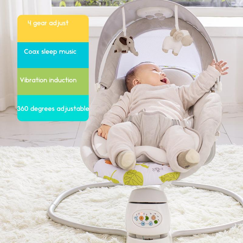 Auto Swing Baby Rocking Chair Baby Cradle To Soothe God To Sleep