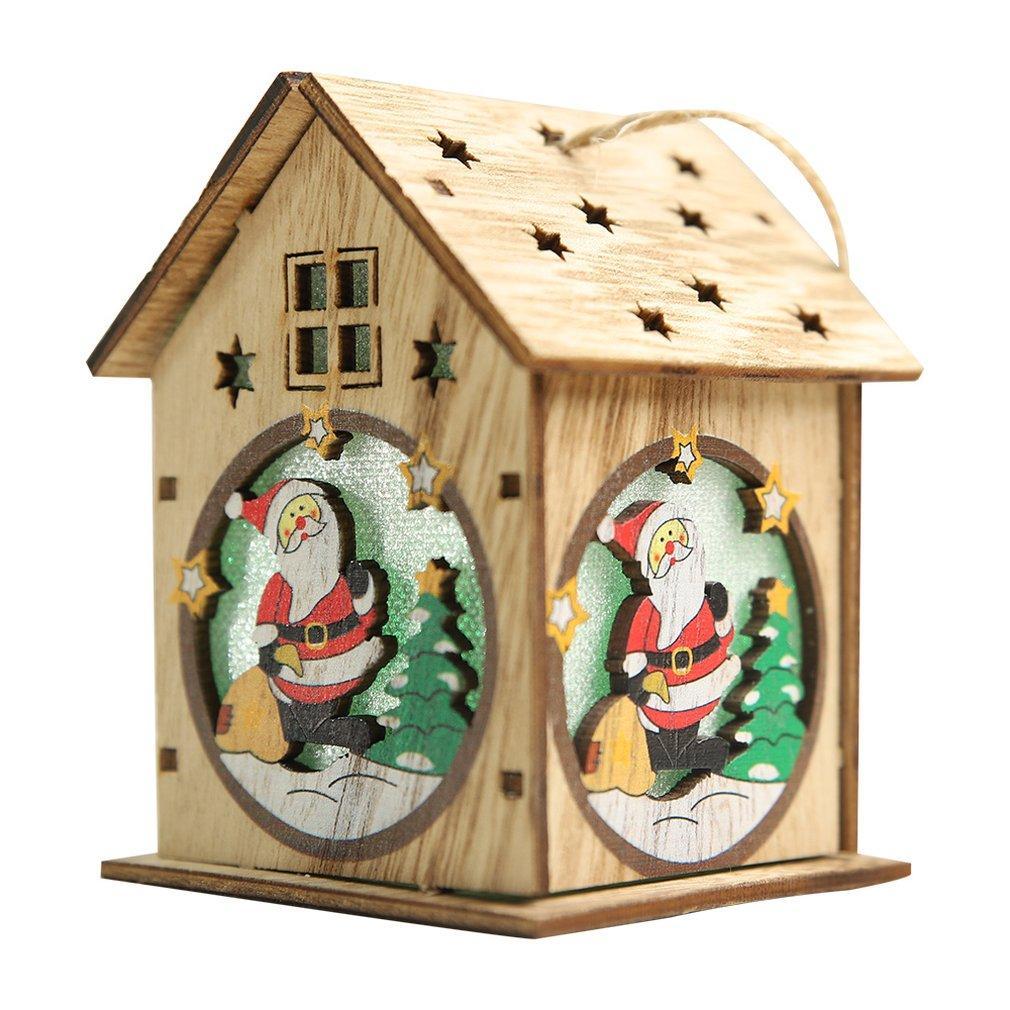 Işıklar Noel kolye Yaratıcı Yılbaşı Ağacı Süsleme Noel Dekorasyon Diy Küçük Evi ile Kabin