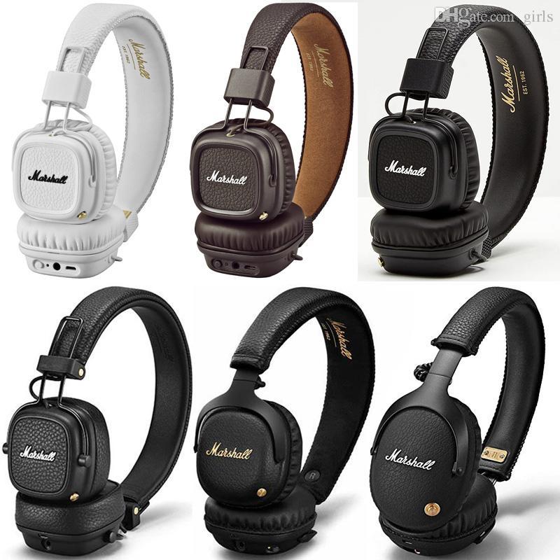 سماعات Hight Quality Marshall من سماعات MAJOR I / II / III / MID / ANC / MONITOR / MODE / EQ اللاسلكية Bluetooth على الأذن