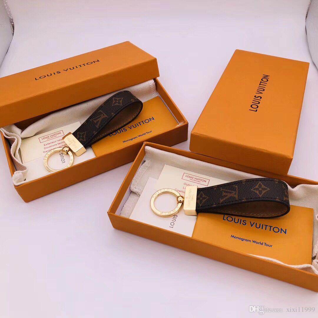 Top marque porte-clés, boîte de chaîne de conception clés porte-clés en acier de titane de haute qualité classique Livraison gratuite