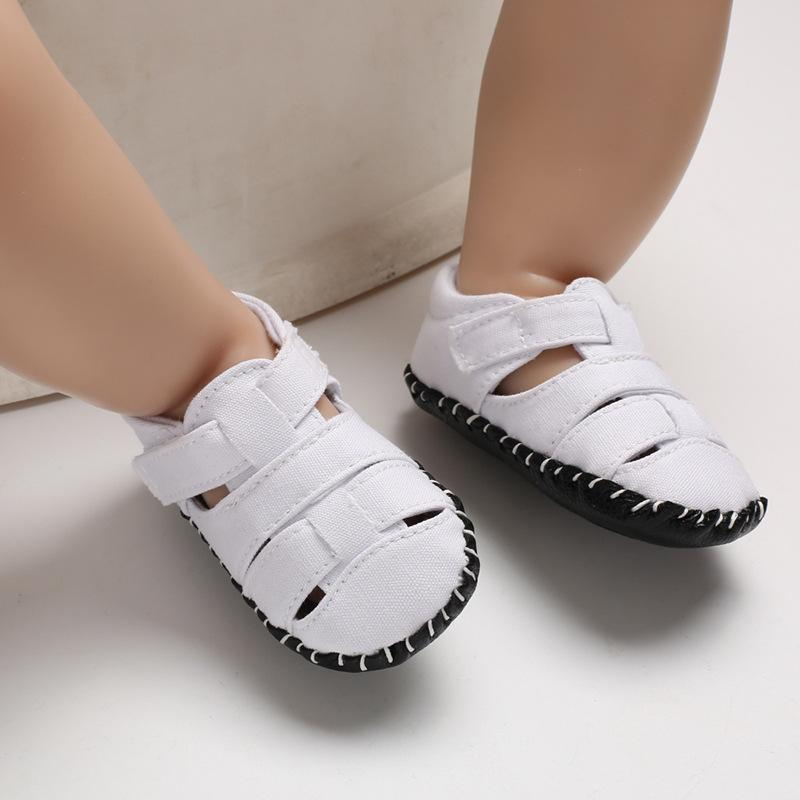 Soft Non-slip Flats Canvas Newborn Kids Toddler Shoes Summer Little Children Covered-toes First Walkers Baby Boys Beach Shoes