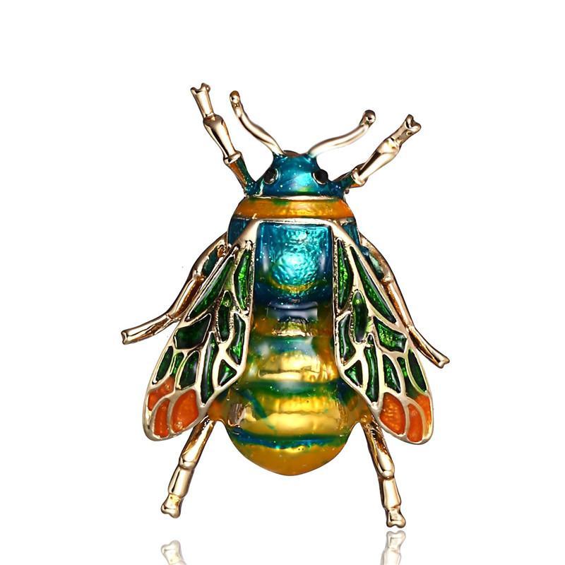Moda jóias vintage broche abelha Insect pinos de liga Pintura Broche roupas acessórios Atacado Pin Broches para as Mulheres Homens