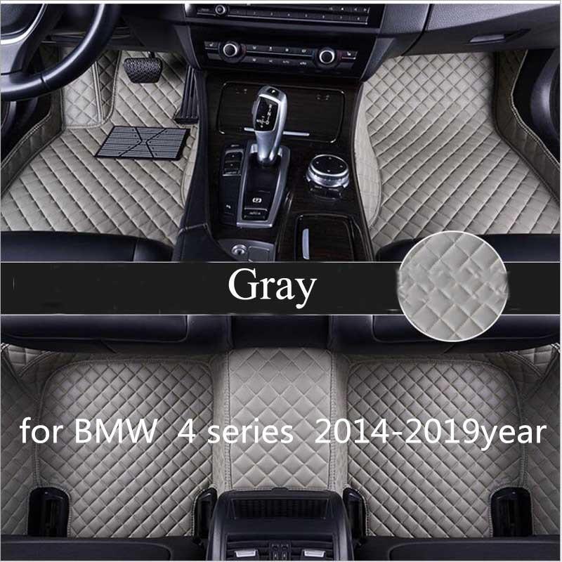 para BMW Série 4 2014-2019year antiderrapante non-toxic pé almofada do pé carro pad