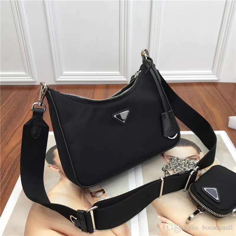 Erkekler için Marka Moda Siyah renk Çanta ve Kadın Toptan Yeni Ürünler Çapraz vücut Naylon torba Küçük Coin Cüzdan ile