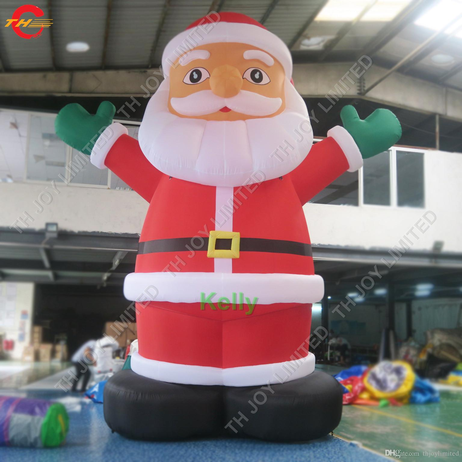 Babbo Natale gonfiabile gigante Babbo Natale vecchio aria libera spedizione a porta all'aperto gonfiabile in piedi vecchio di Natale