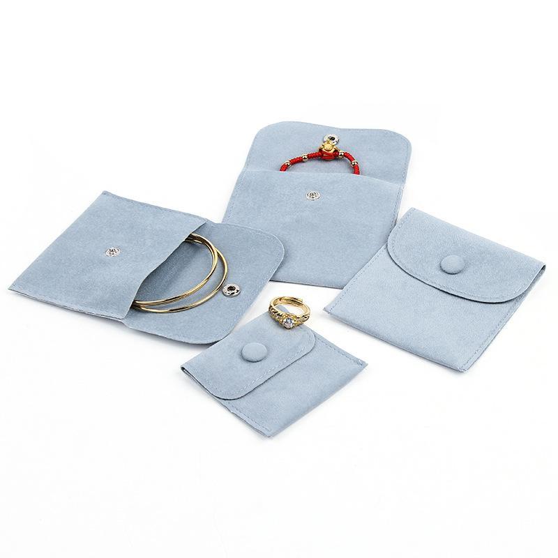 Flanella borse della borsa sacchetto di gioielli velluto che ispessisce monili fragili sacchetti custodia collana di gioielli anello
