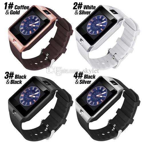 Android Watch DZ09 Smart Wristband Smart Cellphones Android Sport Watch para Relógio Sim Alta Inteligente Qualidade Baterias Inteligentes MVBS