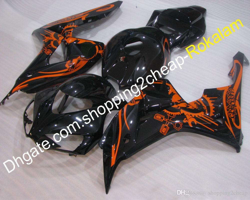 Black Codework Coapling Aftermarket Kit для Honda 2006 2007 CBR1000RR 06 07 CBR 1000 RR CBR1000 Наклейки наклейки (литье под давлением)