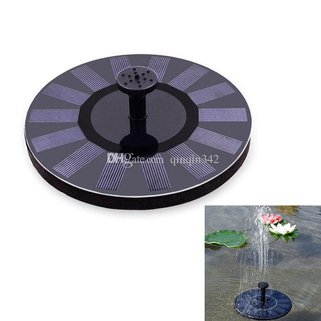 Envío gratis Ecológico Energía solar Bomba de agua de rociadores Fuente decorativa solar para el estanque de jardín Tanque de peces Agua-circulatio