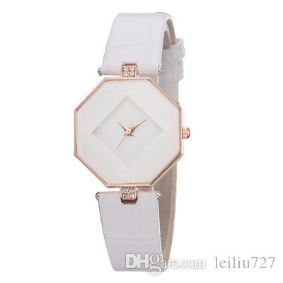 Diamant Zifferblatt Uhr ohne Skala Persönlichkeit Einfache Damenmode Quarzuhr Casual Style Silikonarmband Wild Temperament