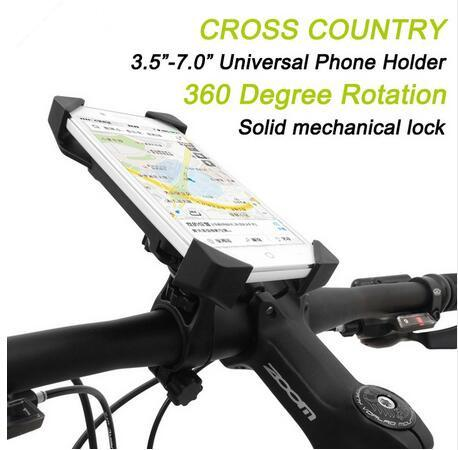 Hot selling Bicycle Accessories Handlebar Clip Mount Bracket Mobile Phone Bike Holder Stand For iPhone 4 4S 5 5s 6 6s plus Samsung Case