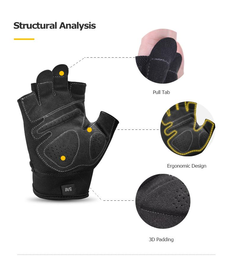 M52 Unisex Half Finger Sports Gloves For Running Jogging Hiking Cycling Bicycle Gym Fitness Weightlifting Nonslip