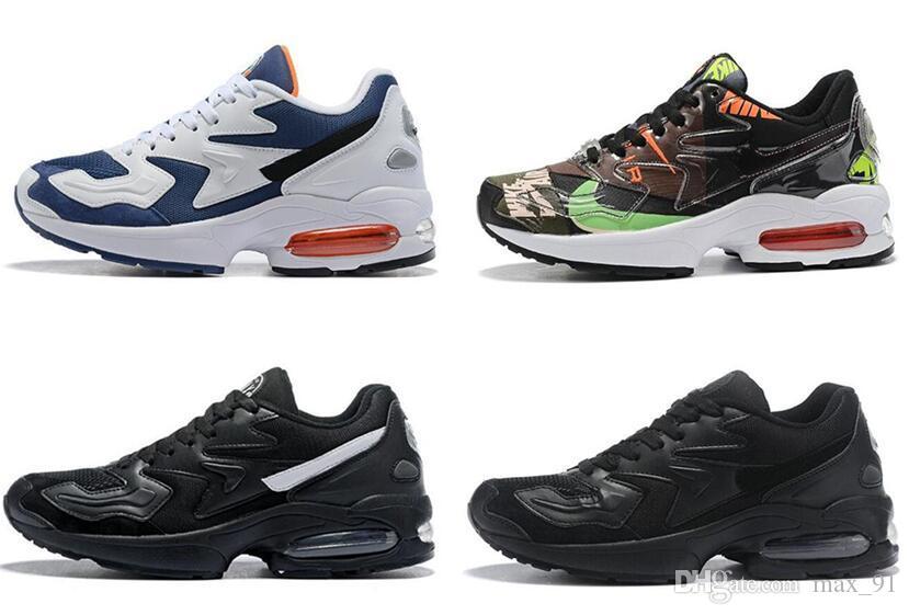 2019 Nuevo Max2 Light OG Hombres Zapatos para correr Blanco Air Blue Zapatillas de deporte para hombre Zapatillas de deporte Zapatos deportivos Zapatos atómicos Tamaño 40-46