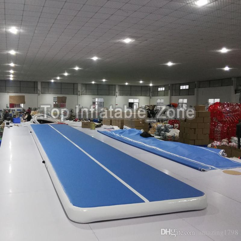 Free Shipping 7m * 1m * 0.2 m Inflatable Gymbass Airtrack Floor Tumbling Air Track For Kids Adult one Free electronic Pump