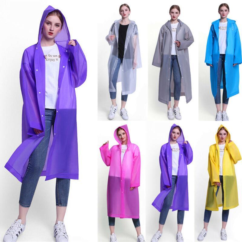 Новый высококачественный EVA плащ Мужчины Женщины водонепроницаемая куртка EVA с капюшоном пончо дождевик многоразовый прозрачный водонепроницаемый плащ