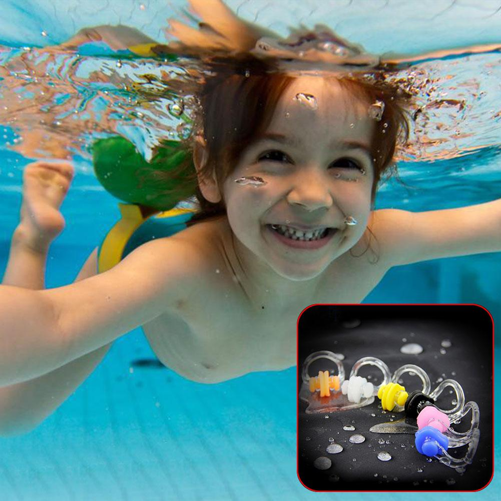 10pcs Free Diving Adult Kids Aid Nose Clip Kayaking Corrector Training Water Dance Silicone Swimming Competitions Equipment