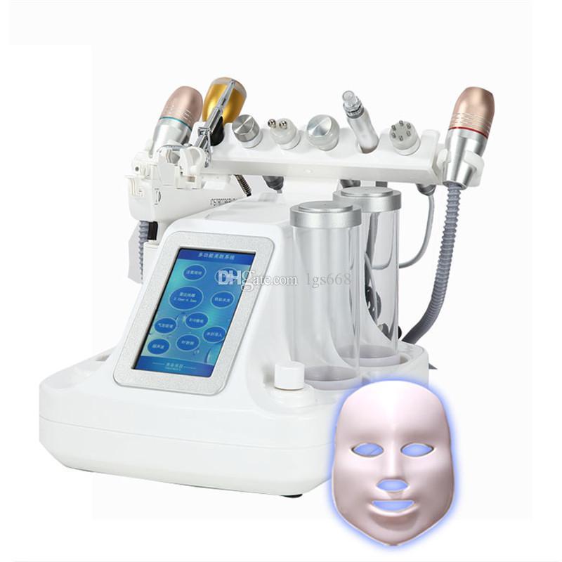 얼굴 아름다움 기계를 리프팅 (11)에서 1 진공 얼굴 모공 클렌저 마사지 히드라 더마 브레이 젼 아쿠아 필링 물 산소 제트기 피부