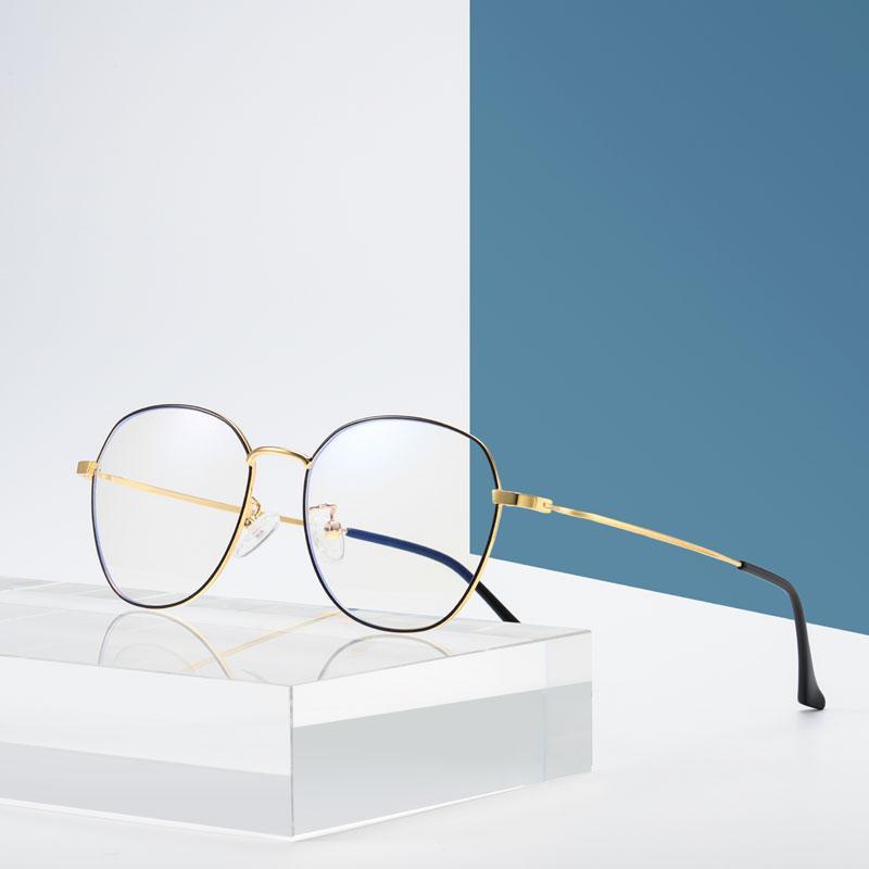 2019 حجب الزرقاء الجديدة نظارات الكمبيوتر إطار معدني الرجعية النظارات المضادة للنظارات زرقاء وأعلى جودة القراءة نظارات مرآة مستوية الشحن المجاني