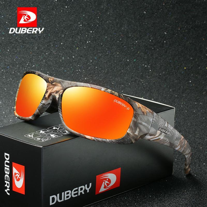 Dubery1418 رؤية الليلية الرياضة ركوب الدراجات النظارات الشمسية المستقطبة في الهواء الطلق windproof للنظارات شمسية للرجال