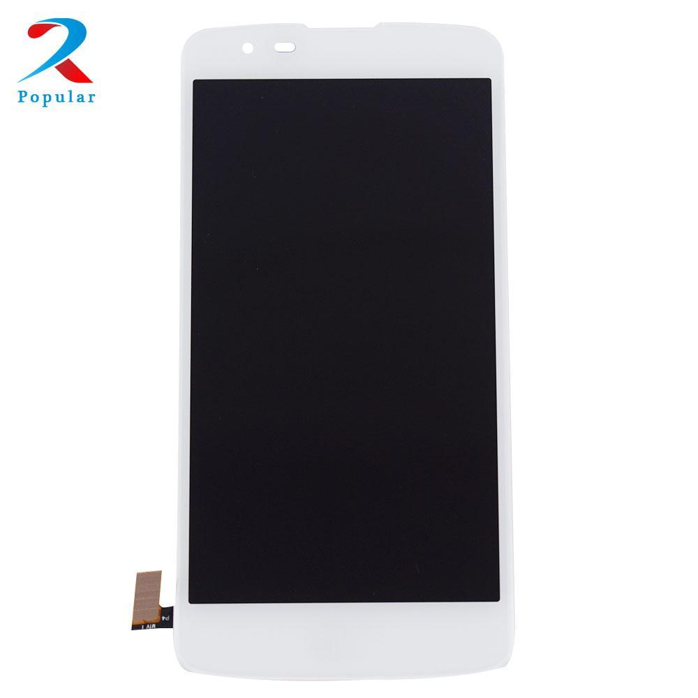 For LG K8 LTE K350N K350E K350DS 4G Touch Screen Panel Digitizer Sensor Glass + LCD Display Monitor Screen Panel Module Assembly