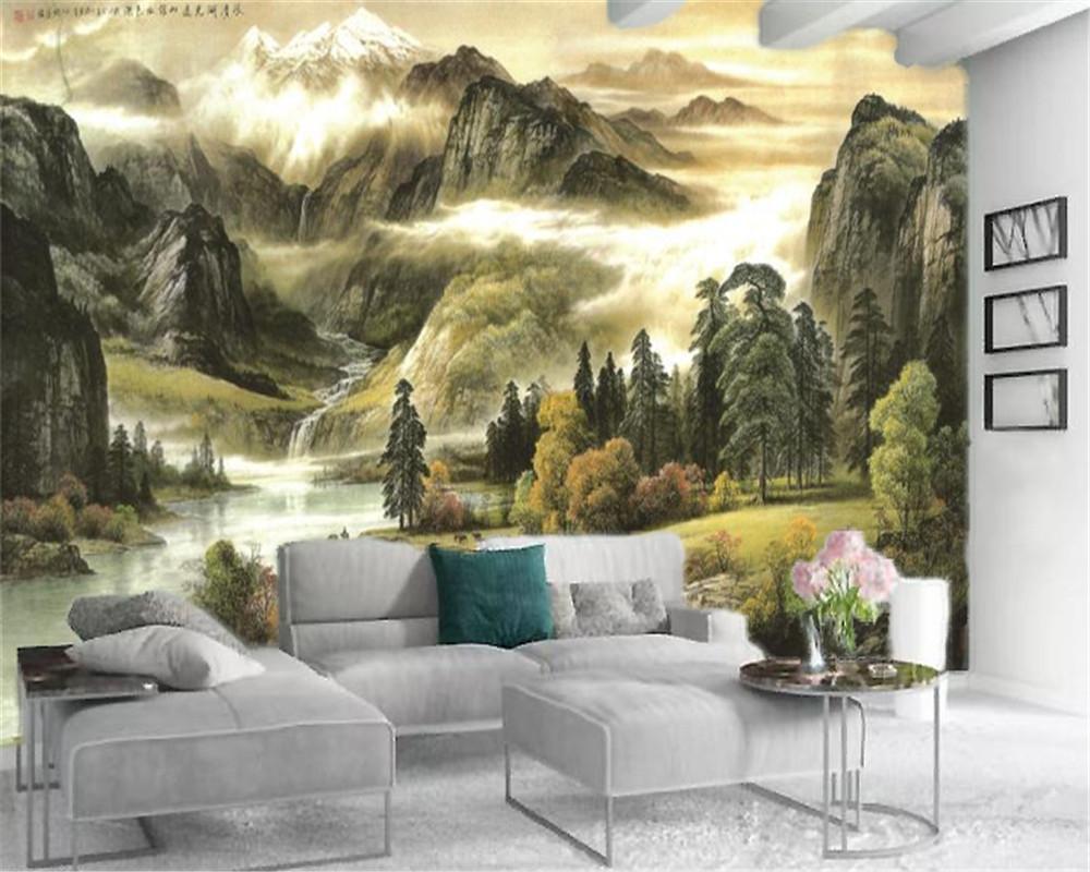 3d Fond d'écran mural paysages magnifiques Personnalisez votre favori haut de gamme Atmospheric Décoration Fond d'écran