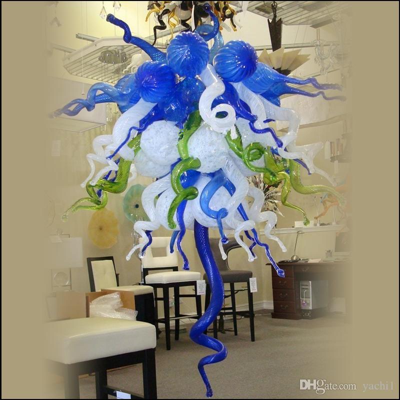 Moderno mano soplados lámparas de Murano lámpara de cristal francés estilo personalizado de cristal de Murano lámparas pendientes de arte moderno de vidrio para la decoración del hotel