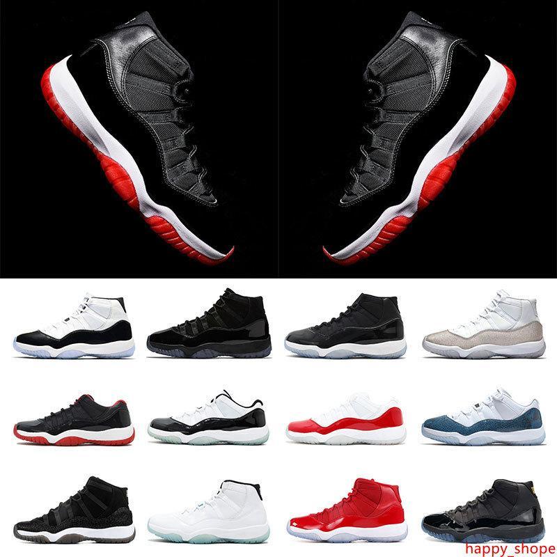 Mens zapatillas de baloncesto 11 Nueva Bred Concord 45 23 tapa y vestido METÁLICO plata arriba 11s calidad GAMMA AZUL para mujer entrenadores deportivos zapatillas de deporte