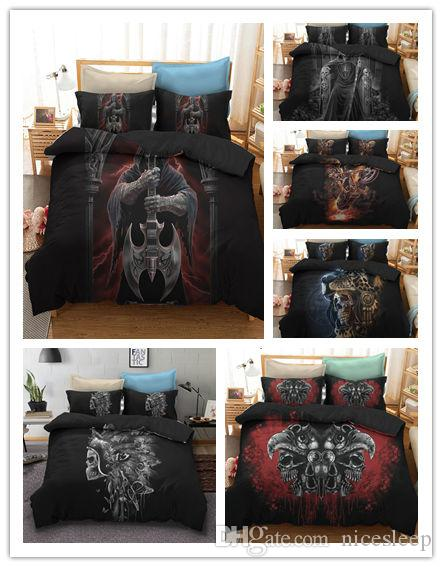 Lenzuola Matrimoniali Low Cost.Skull Bedding Sets Queen Size Sugar Skull Duvet Cover Bed Cool