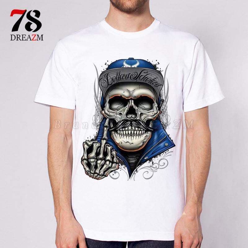 kafatası gömlek moda erkek Ölüm komik Kafatası Tişörtlü Anime Yaratıcı Tişört Moda Yenilik Stil Tee Erkek Tshirt Soğuk