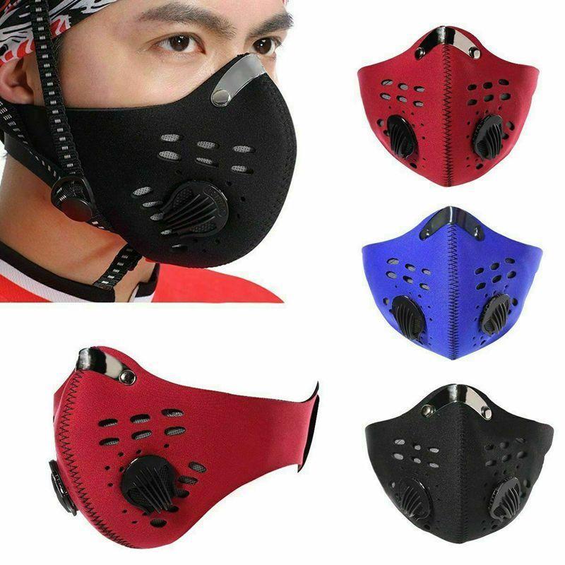 Анти Dust Велоспорт Маска PM 2,5 Рот Муфельного Велоспорт гонка Half Face Filter Cover Designer маска с 2pcs фильтр Pad CCA12123 60pcs