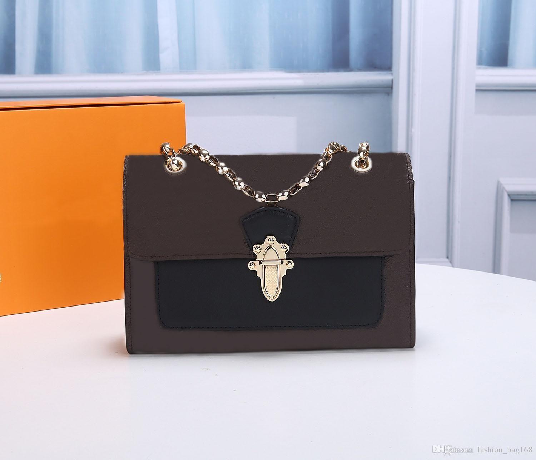 Neue Modedesigner klassische Frauen-Handtaschen aus echtem Leder Umhängetasche Brown Brieftasche Qualitäts-Frauen-Weinlese-Bügel-Schultertasche