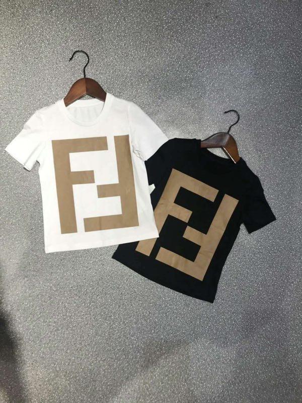 Fen New Fashion Kinder T-Shirt bequem und atmungsaktiv mit feinen Stoffen schöner Trend F Briefdruck