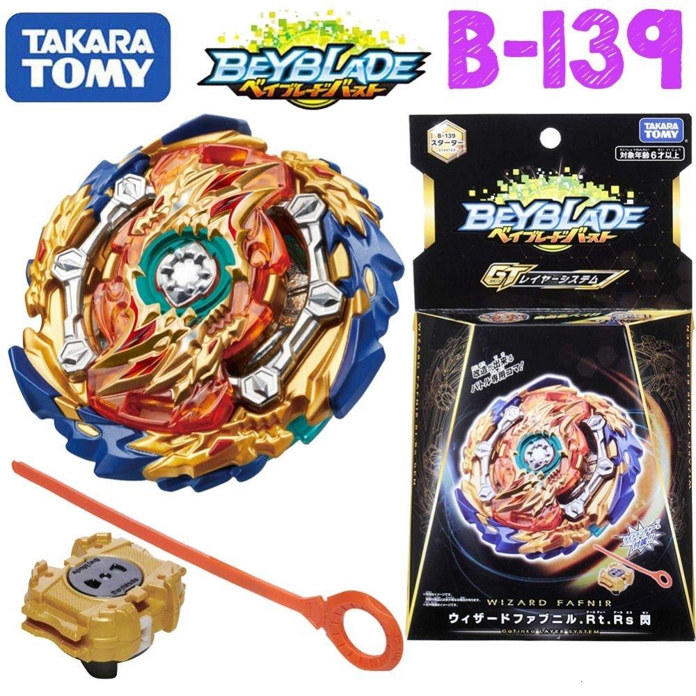 Takaratomy Beyblade Burst B-139 Starter Wizard Fafnir Rt . Rs Sen bay blade with launcher Bayblade gyroscope Toys for boyMX190923