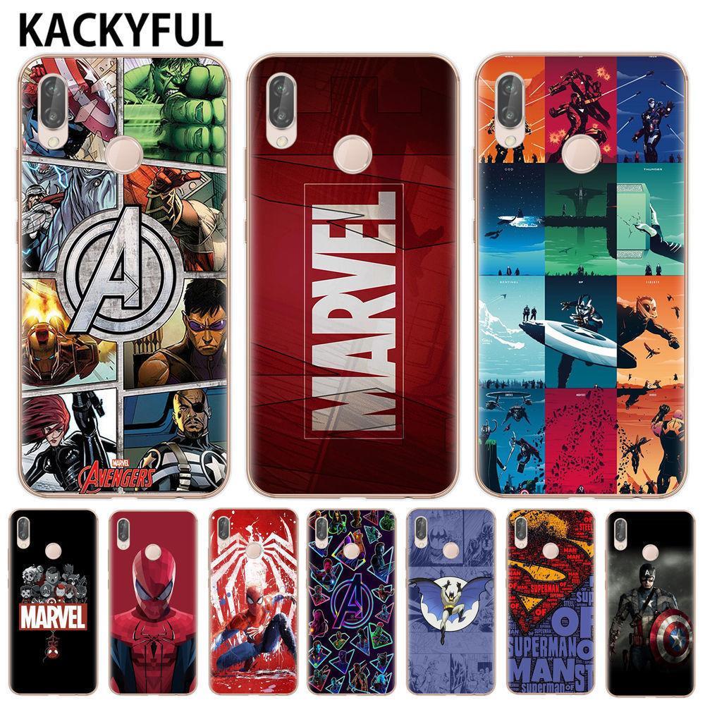 Marvel Avengers Heros Comics Kolaj Telefon Kılıfı Için Huawei P8 P9 Lite Mate 20 P10 P20 P30 Lite Pro Kapak Yumuşak Tpu Kapak