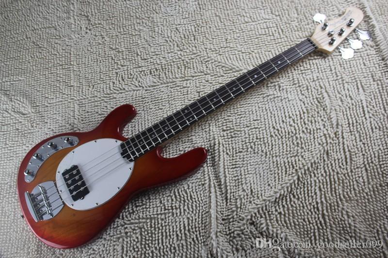 Top qualité Gauchers 4 cordes Prendre l'initiative de pick-up balle Music Man Ernie Guitare basse électrique