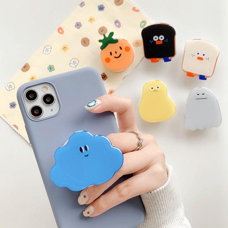 Support de téléphone mobile Epoxy dessin animé 3D support universel téléphone mobile porte-téléphone doigt cadre de l'extension DHL