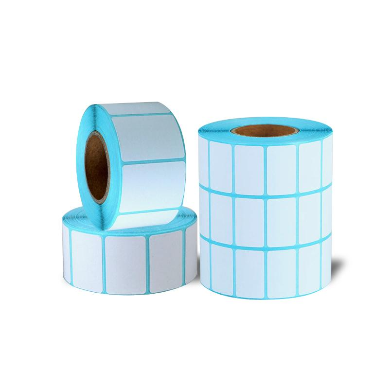 Price Round Blank Tag Adhesive Paper Waterproof Thermal Sticker Package Label